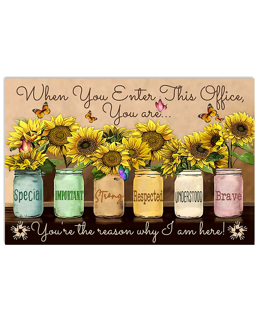 Occupational Therapist Sunflowers  17x11 Poster