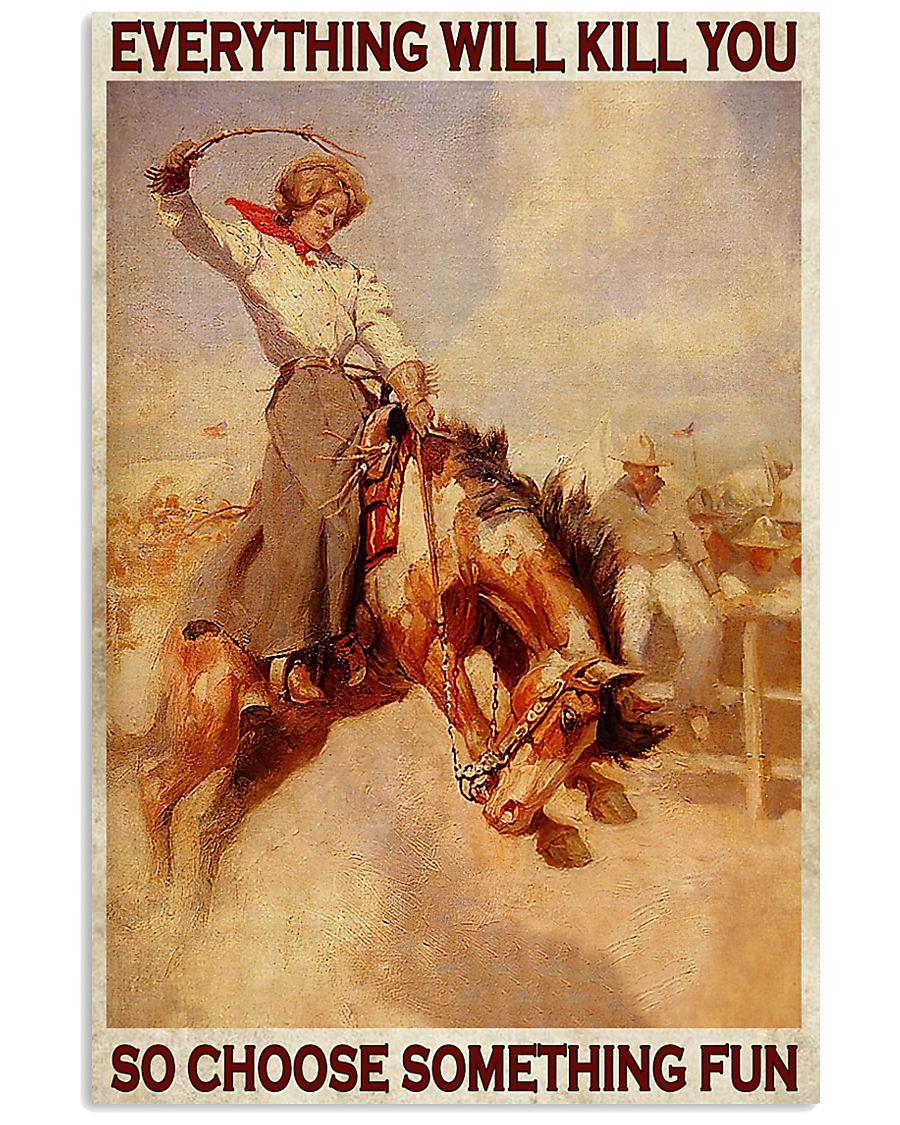 Horse Girls Choose Something Fun 11x17 Poster