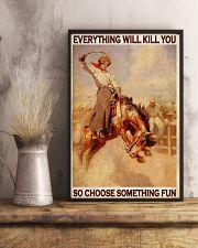 Horse Girls Choose Something Fun 11x17 Poster lifestyle-poster-3