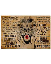 Today Is A Good Day Optometrist 17x11 Poster front