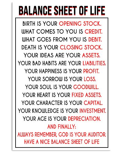 Accountant Balance Sheet of Life poster