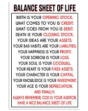 Accountant Balance Sheet of Life poster 24x36 Poster front
