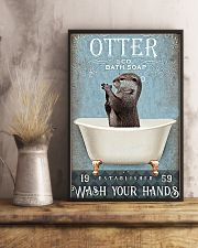 Otter - Wash Your Hands 11x17 Poster lifestyle-poster-3