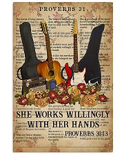 Guitar She Works Willingly 11x17 Poster front