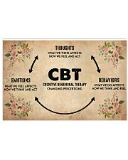 Social Worker Cognitive Behavioral Therapy 17x11 Poster front
