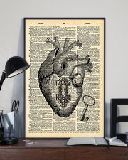 Heart With Key Cardiologist 11x17 Poster lifestyle-poster-2