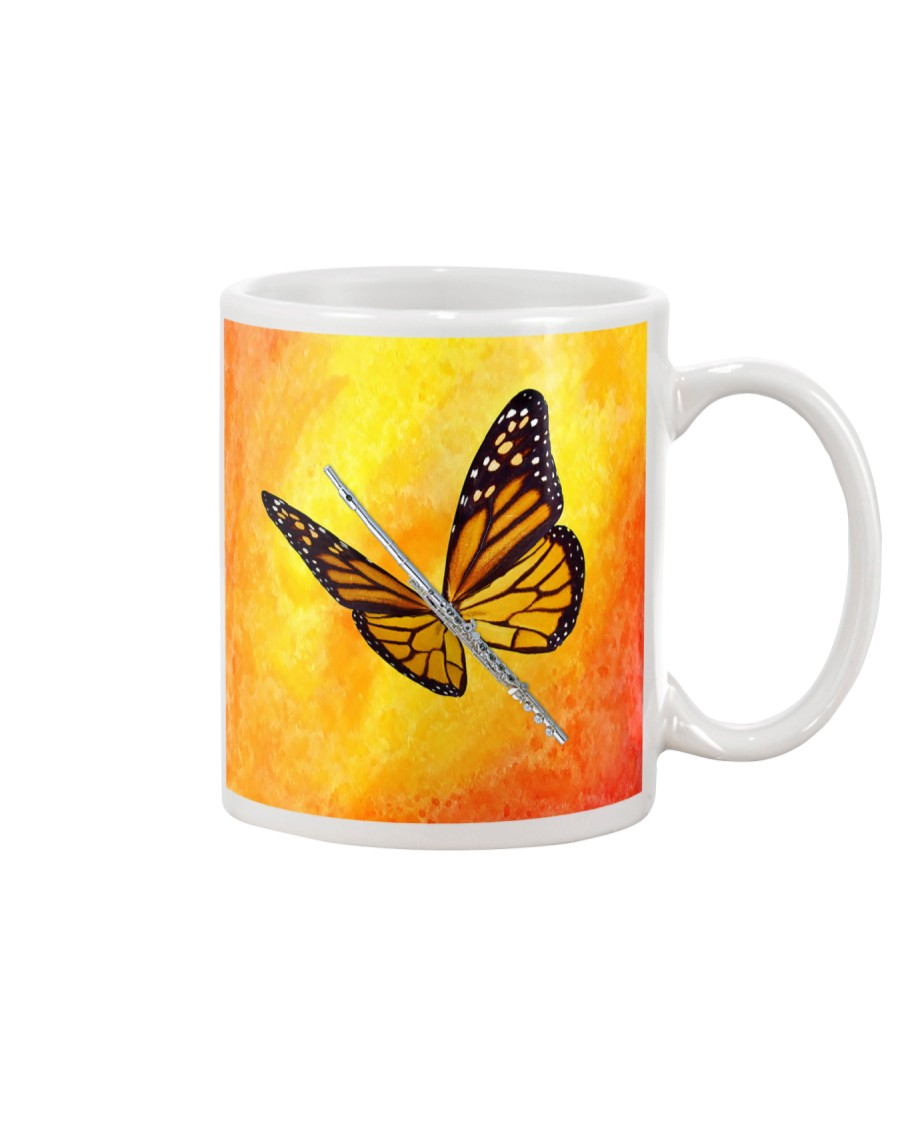 Flute Art Butterfly Mug