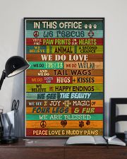 Veterinarian In This Office 11x17 Poster lifestyle-poster-2