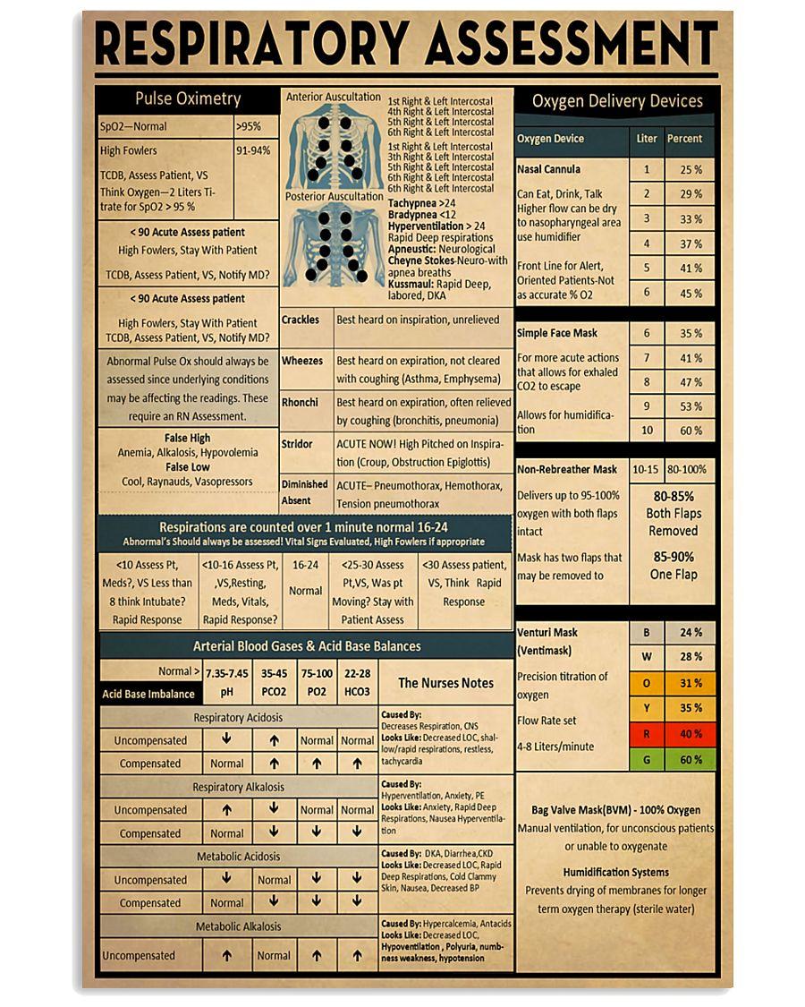 Respiratory Therapist Respiratory Assessment 11x17 Poster