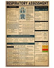 Respiratory Therapist Respiratory Assessment 11x17 Poster front