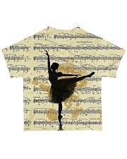 Vintage Ballet Music All-over T-Shirt back
