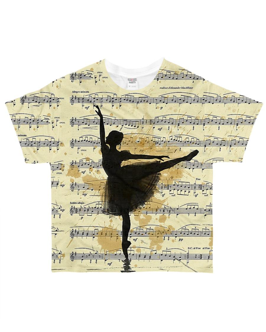 Vintage Ballet Music All-over T-Shirt
