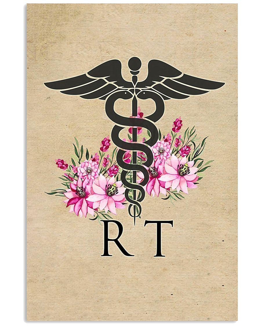 Respiratory Therapist Flowers Caduceus 11x17 Poster
