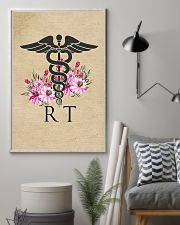 Respiratory Therapist Flowers Caduceus 11x17 Poster lifestyle-poster-1
