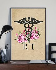 Respiratory Therapist Flowers Caduceus 11x17 Poster lifestyle-poster-2