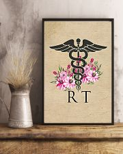 Respiratory Therapist Flowers Caduceus 11x17 Poster lifestyle-poster-3