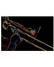 Trombonist Trombone Player 17x11 Poster front