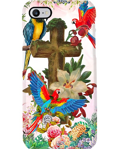 Parrots on cross Phone case
