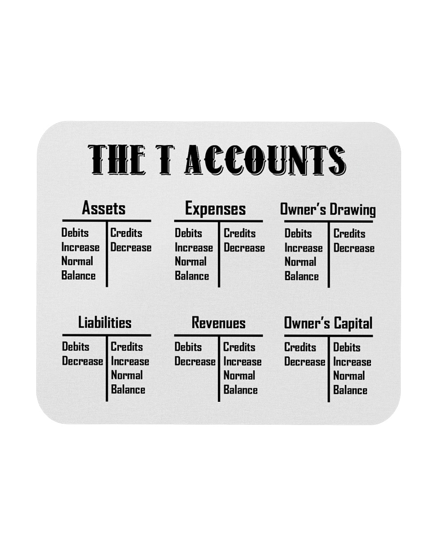 Accountant - The T Accounts Mousepad