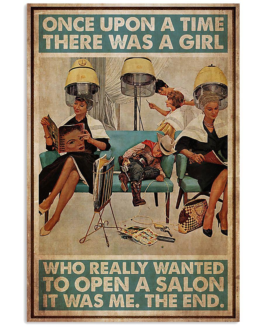 Hairdresser Woman Opens A Salon 11x17 Poster
