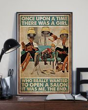 Hairdresser Woman Opens A Salon 11x17 Poster lifestyle-poster-2