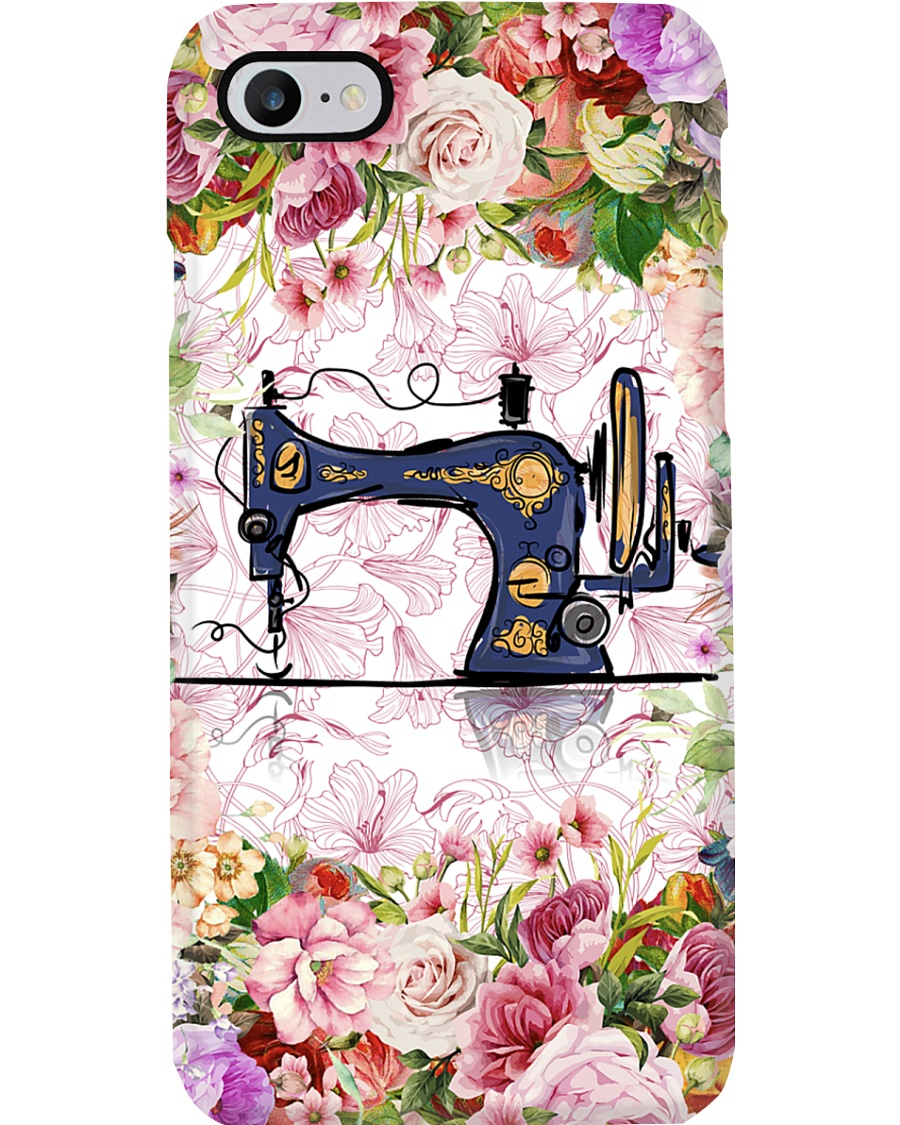 Colorful Flowers Sewing Machine Phone Case