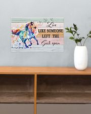 Horse Girl - Live Like Someone Left The Gate Open 17x11 Poster poster-landscape-17x11-lifestyle-24