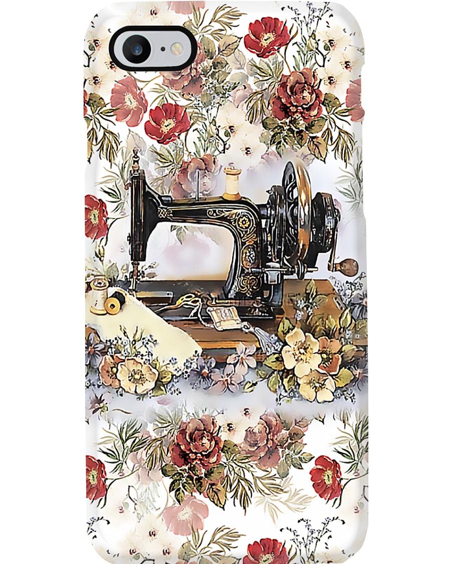 Vintage Floral Sewing Machine Sewing  Phone Case