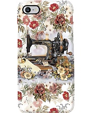 Vintage Floral Sewing Machine Sewing  Phone Case i-phone-8-case
