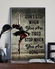 Ballet - Don't Stop When You Are Tired 11x17 Poster lifestyle-poster-2