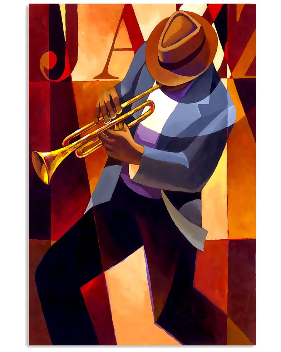 Trumpet Jazz Man 11x17 Poster