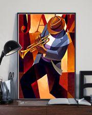 Trumpet Jazz Man 11x17 Poster lifestyle-poster-2
