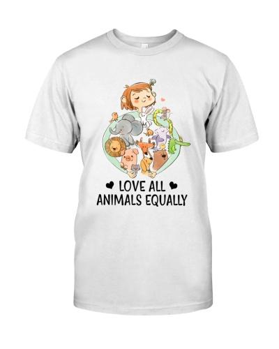 Vegan Love all animals equally