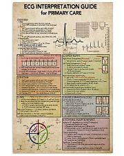 ECG Interpratation Guide Cardiologist 11x17 Poster front