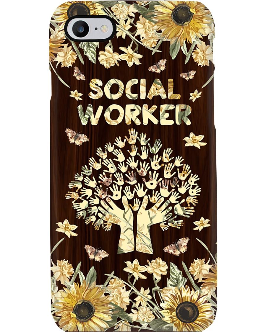 Social Worker Flowery Gift Phone Case