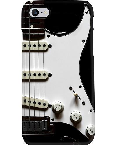 Guitar White Black Strings