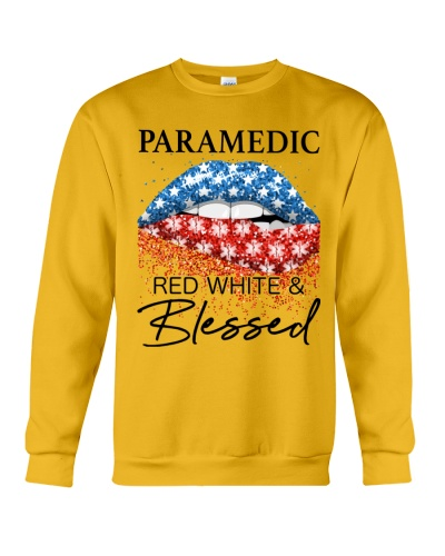 Paramedic Red White And Blessed