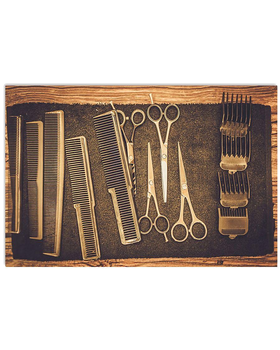 Hairdresser Vintage Tools 17x11 Poster