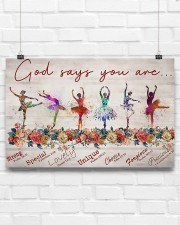 Ballet - God Says You Are Strong  17x11 Poster aos-poster-landscape-17x11-lifestyle-17