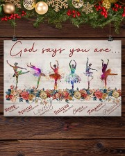 Ballet - God Says You Are Strong  17x11 Poster aos-poster-landscape-17x11-lifestyle-27