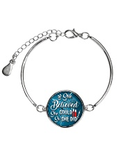 Phlebotomist - She believed she could so she did Metallic Circle Bracelet thumbnail