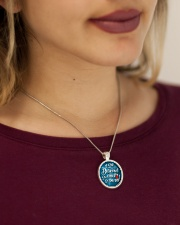 Phlebotomist - She believed she could so she did Metallic Circle Necklace aos-necklace-circle-metallic-lifestyle-1
