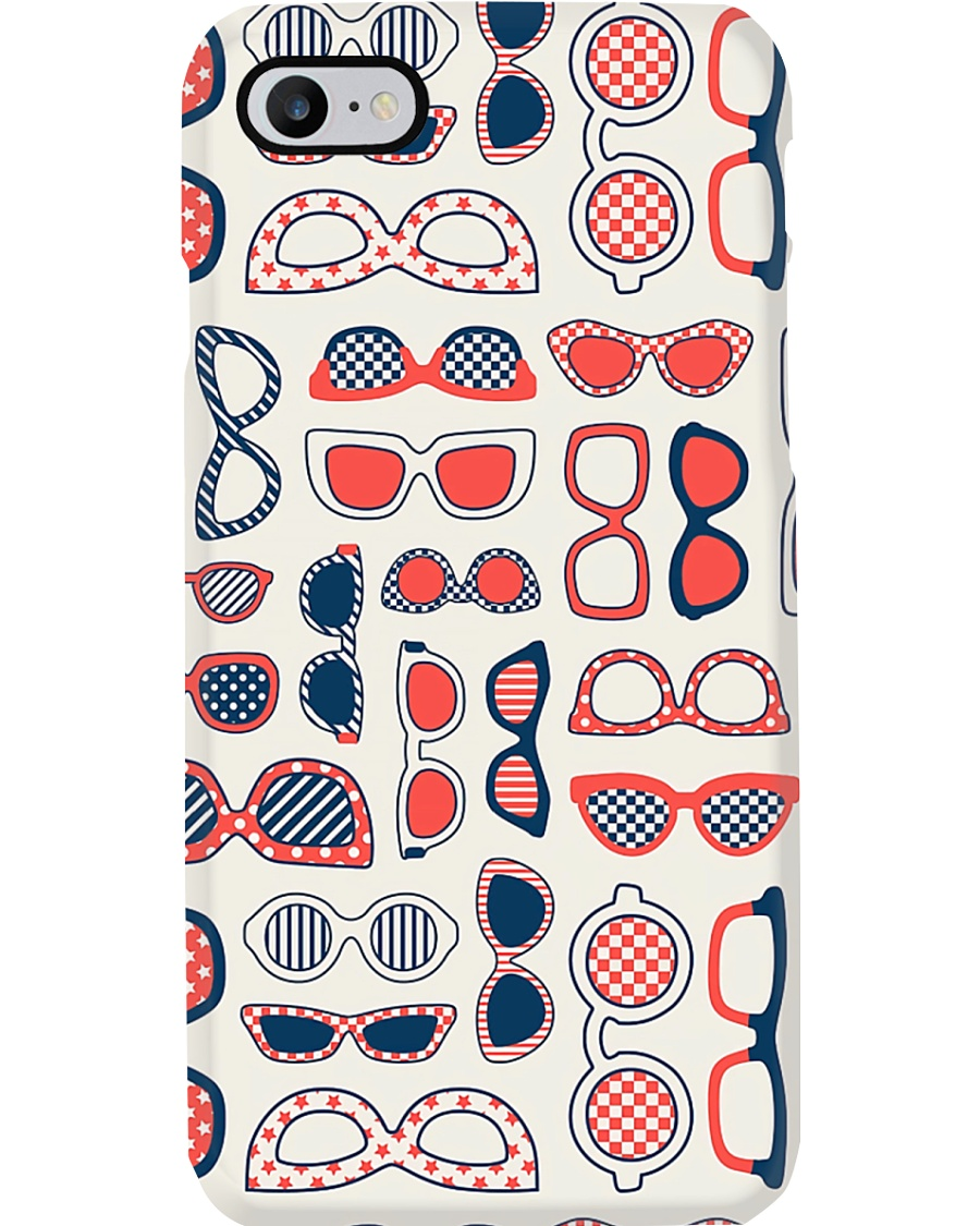 Optometrist Red Color Glasses Phone Case