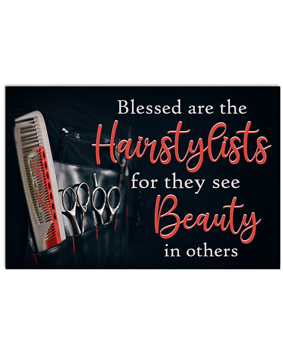 Blessed Are The Hairstylists Hairdresser 17x11 Poster