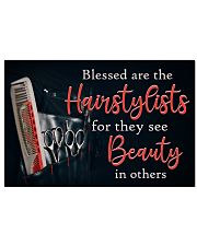 Blessed Are The Hairstylists Hairdresser 17x11 Poster front