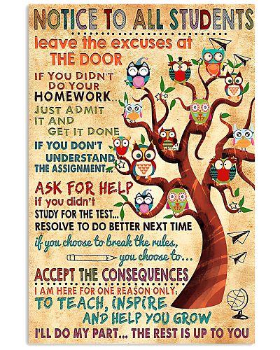 Notice To Students Teacher