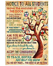 Notice To Students Teacher 11x17 Poster front