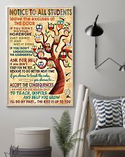 Notice To Students Teacher 11x17 Poster lifestyle-poster-1