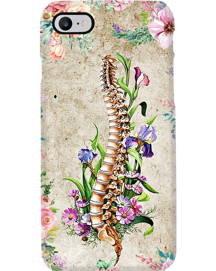 Chiropractor Floral Spine Phone Case