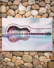 Guitar Music Gives A Soul To The Universe 17x11 Poster poster-landscape-17x11-lifestyle-15
